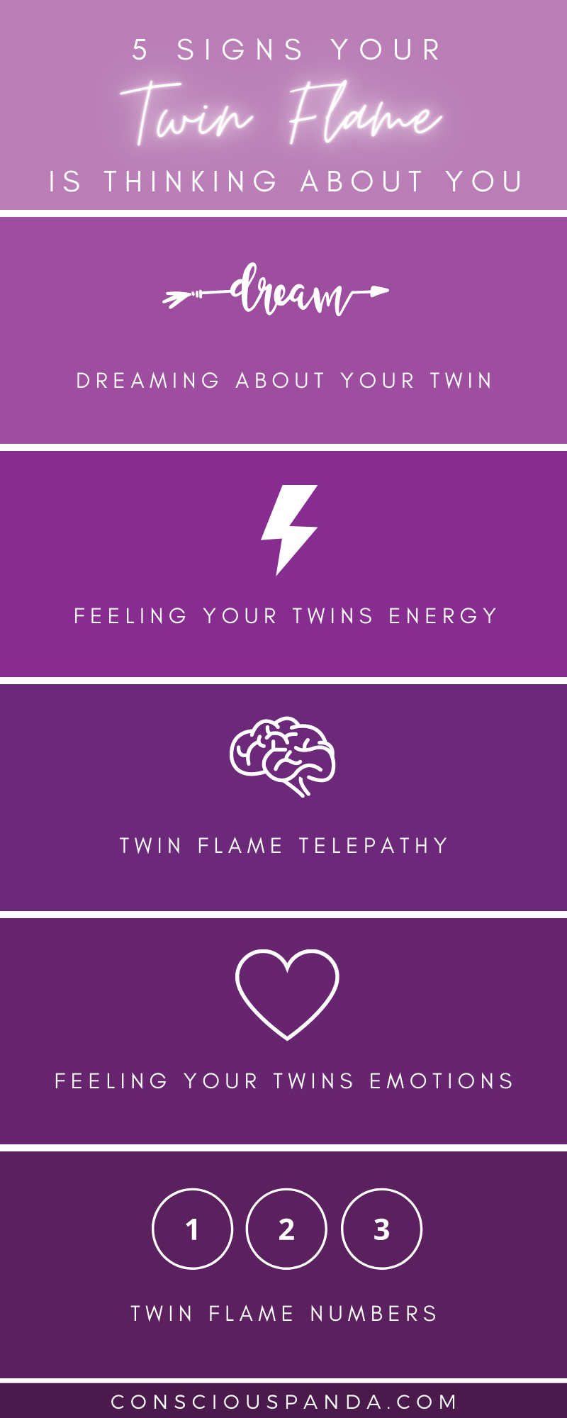 5 Signs your Twin Flame is Thinking About You infographic